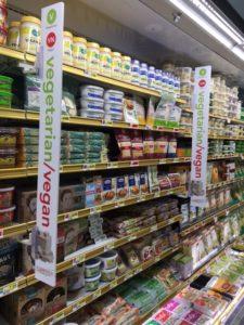 vegetarian/vegan食品コーナー